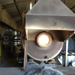 Forno rotativo para alumínio