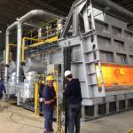 Forno a gás para fundição de alumínio