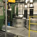 Manutenção de forno de fundição
